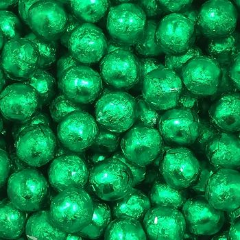 Foil Wrapped Milk Chocolate Balls Green