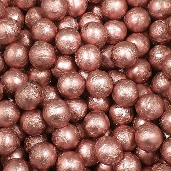 Foil Wrapped Milk Chocolate Balls Light Pink
