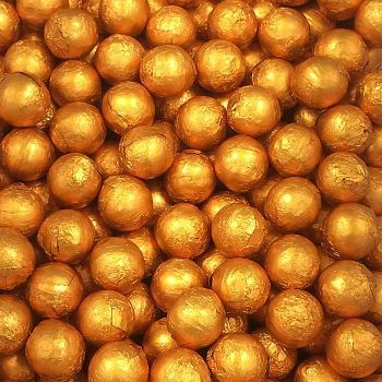 Foil Wrapped Milk Chocolate Balls Orange