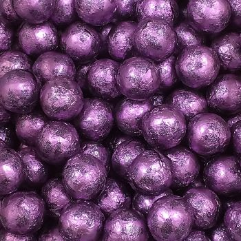 Foil Wrapped Milk Chocolate Balls Purple