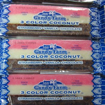 Coconut Bars Strawberry-Vanilla-Chocolate