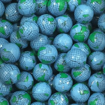 Milk Chocolate Earth Balls/Globes