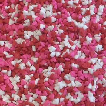 Quins Small Red/White/Pink Hearts